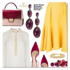 Amet Drops Earrings by mada-malureanu on Polyvore featuring MICHAEL Michael Kors, Edeline Lee, Nina Ricci, Michael Kors and IBB