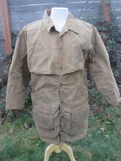 vintage Filson tin cloth waxed mid length hunting by Simplemiles