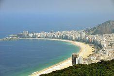 Copacabana Beach, 2010, seen from Sugarloaf Mountain - Rio de Janeiro, Brasil