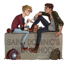 cargsdoodles: bucky barnes very quickly gives up smoking to continue hanging out with the cute asthmatic boy in his french class for buckybarnev whos a total babe and wanted hipster highschool au