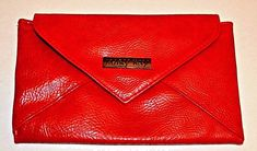 Mary Kay Red Clutch Bag Purse Metro Chic Collection Magnetic Closure Limited NEW #MaryKay #Clutch