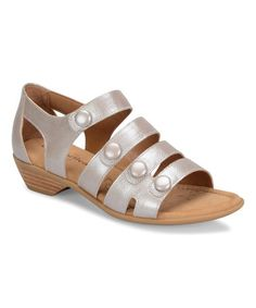 Loving this Silver Reading Leather Sandal on #zulily! #zulilyfinds