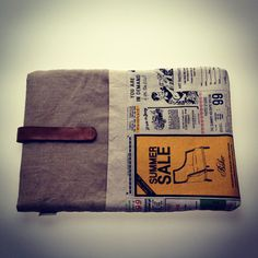 Newspaper macbook sleeve by Things You Wear, buy on Etsy.com