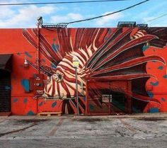 Mural by Ivan Roque in Miami, USA #streetart