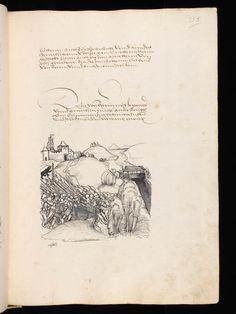 """Aarau, Aargauer Kantonsbibliothek, ZF 18, f. 213r – Werner Schodoler, Eidgenössische Chronik, Vol. 3 The Eidgenössischen Chronik/Luzerner Chronik. A manuscript by Wernher Schodoler. Made in 1513. About the Swiss wars with """"Habsburg, die Burgunderkriege, dem Schwabenkrieg und zuletzt den italienischen Feldzügen"""" http://de.wikipedia.org/wiki/Eidgen%C3%B6ssische_Chronik_%28Schodoler%29"""