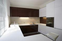 white & wood kitchen