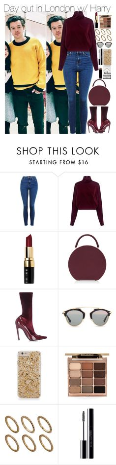 """""""Day out in London w/ Harry"""" by larissaglz on Polyvore featuring Topshop, McQ by Alexander McQueen, Bobbi Brown Cosmetics, BUwood, Balenciaga, Christian Dior, Stila, Pieces, shu uemura and harrystyles"""