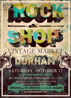 Poster designed by Brendan James Ward for The Rock & Shop Market