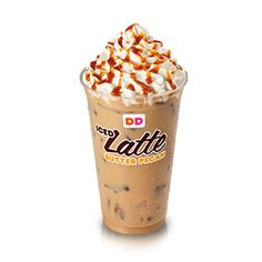 Dunkin' Donuts Iced Caramel Latte Lite (Small) 80 Calories.