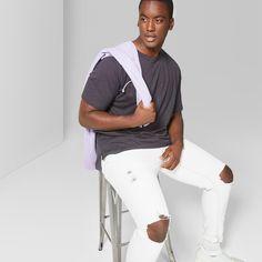 Men's Big & Tall Short Sleeve Drop Shoulder Slub T-Shirt - Original Use Zodiac Night 5XBT