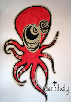 Artist: Octavia Beazley  Octo  Meloncholy Octopus, Homework, Tigger, Disney Characters, Fictional Characters, Arms, My Favorite Things, Fun, Artist