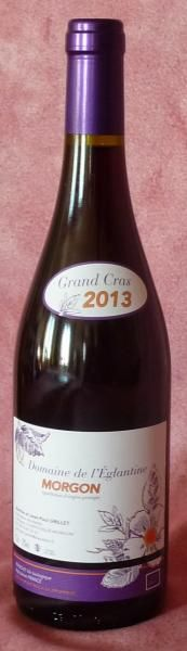 Domaine de L'Églantine AOC MORGON BIO Cuvée : Grand Cras Type de Vins Vin Rouge de Garde Appellation AOC Morgon Millésime 2013 Alcool 12 d'alcool Conservation A boire dans les 10 ans à une température 18° SO2 ajouté 15 100% gamay