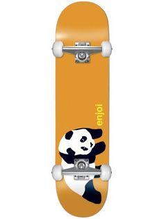 "Enjoi Panda Complete Skateboard (Orange, 7.5-Inch) by Enjoi. $101.97. OG Panda Complete Skateboard by enjoi. Deck size: 7.6"" x 31.6"". Built with Royal Trucks, Enjoi 53mm Wheels, Enjoi Abec 7 Bearings, Enjoi Hardware, Superior Product Griptape. Imported."
