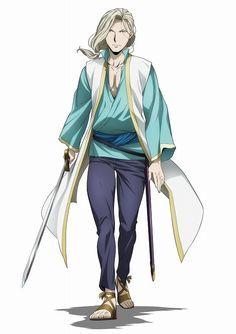 Daisuke Namikawa como Narsus en la segunda temporada del anime Arslan Senki.