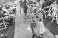 """""""Let's get this party started!"""" said the ring bearer and flower girl 