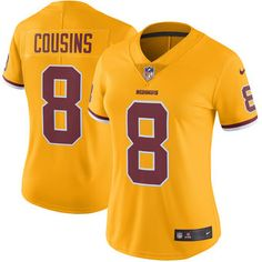 f06a99e16 Kirk Cousins Washington Redskins Nike Women s Color Rush Limited Jersey -  Gold Nfl Jerseys For Sale