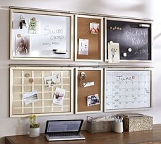 belle maison: Home Office Design Challenge :: Function vs. Home Office Organization, Office Decor, Office Ideas, Clutter Organization, Storage Organization, Pottery Barn, Family Command Center, Command Centers, Home Office Accessories