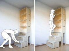 tiny house storage steps - Google Search