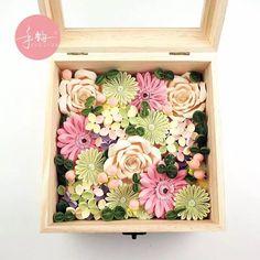 手韵衍纸-幸运花盒,quilling Romantic flower boxes