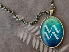 Aquarius+Necklace+Aquarius+Nebula+Necklace+Zodiac+by+DearVioleta,+$14.60