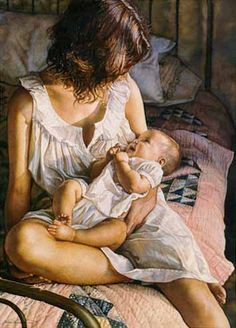 """""""In the Eyes of the Innocent"""" - Steve Hanks {figurative woman painting}"""