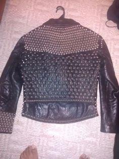 Straight-to-Hell-Defector-Studded-Leather-Jacket-Size-44-Punk-Battle-Jacket
