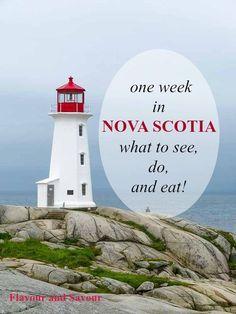 Suggestions for one week in Nova Scotia--what to see, do and eat in the beautiful Canadian Maritime province of Nova Scotia. Where to stay and where to eat! Nova Scotia Travel, Visit Nova Scotia, Nova Scotia Tourism, East Coast Travel, East Coast Road Trip, Prince Edward Island, Lunenburg Nova Scotia, Ottawa, East Coast Canada
