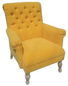 Fotel Chesterfield, styl angielski, armchair, głęboko pikowany, plusz, velvet, żółty, yellow, comfortable, wygodny  fotel_chesterfield_artur_3c.jpg (472×600)