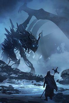 Cascading Dark Art, Fantasy, Sci-Fi, & Sex Appeal - That's one hellova dream catcher; one built to. Dark Fantasy Art, Fantasy Concept Art, Fantasy Artwork, Dark Art, Demon Artwork, Monster Concept Art, Fantasy Monster, Monster Art, Creature Concept Art