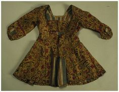 kassakijntje [women's clothing, jacket, Casaquin Jacket], c. 1750, made of glazed printed cotton