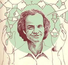 Quick portrait of Richard Feynman, the Quantum man, and his feynman diagrams. Richard Feynman, Einstein, Tumblr, Astronomy, Art Quotes, Physics, Teaching, Art Prints, Physique