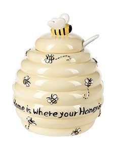 Cute Bee Designed Honey Pot