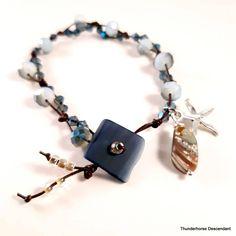 Button Bracelet, Bracelets, Crystal Beads, Swarovski Crystals, Taylors Falls, Bead Store, Abalone Shell, Strand Bracelet, Leather Fashion