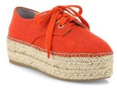 Alice And Olivia Rory Raffia Platform Espadrille Sneakers In Red Espadrille Sneakers, Women's Espadrilles, Shoes Sneakers, Alice Olivia, Casual Wear, What To Wear, Footwear, Platform, Red