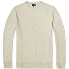 A.P.C. Vintage Jersey Crew Sweater (Ecru Melange)