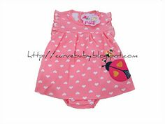 Cute Ladybug Romper   Item Code: BR0022S Item Color: Cream, Blue, Red, Pink Item Size: All Size Age: 0-12 months  Price: $9