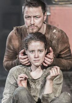 """2013 - """"Macbeth"""" with James McAvoy and Claire Foy at the Trafalgar Studios, London"""