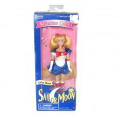 Sailor Moon Doll 6 inch Doll New & Sealed in Box Transformation Pen Wand Bandai 95 2 Sailor Moon Toys, Sailor Moon Art, Sailor Moon Merchandise, Price Sticker, Boxes For Sale, Blue Box, Wands, 6 Inches