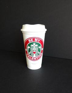 Starbucks Parody BE MY VALENTINE Travel Mug by StarTangledArts
