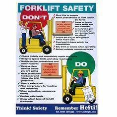 Fork Lift Safety Poster #forklifts