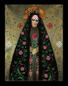 art mexicano Romany Soup Art: My Goddess Series Madonna, Religious Icons, Religious Art, Goddess Art, Sacred Feminine, Mexican Art, Sacred Art, Our Lady, Dark Art