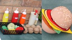 Hamburger Relay--fun backyard BBQ game