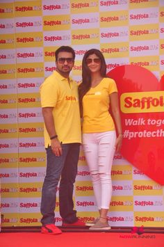 Shilpa And Raj Kundra At Saffola Event