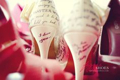 Walk into your marriage wearing your vows, Custom wedding shoes | Figgie shoes
