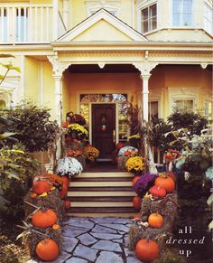 Front porch autumn decor
