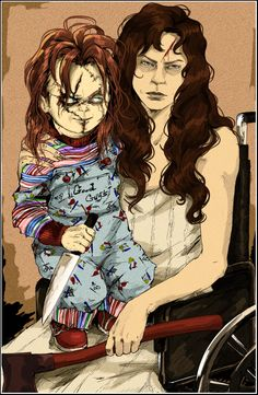 Nica and Chucky by HumanPinCushion on deviantART.com. Aka, me.   --------------- This is NOT ''Fernanda Rivera's'' work, she stole it. People of Pinterest, do NOT credit her for it.