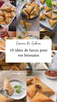 10 stuffing ideas for your briouates, Cooking Bread, Cooking Recipes, Bruschetta Bar, Ramadan Recipes, Iftar, Appetisers, Snacks, Food Inspiration, Appetizer Recipes