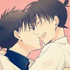 #Conan #Kid #yaoi Kaito x Shinichi