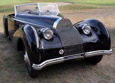 dolce-vita-lifestyle: Bugatti 57c with Voll & Ruhrbeck Cabriolet