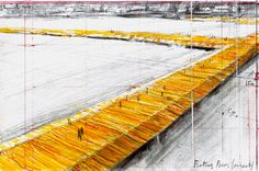 The Floating Piers by Christo. A 3-kilometer-long walkway across the water of Lake Iseo. From 18th june to 3rd july 2016 #Brescia #Bergamo #Lombardia #Christo # Installation #Art #Italy